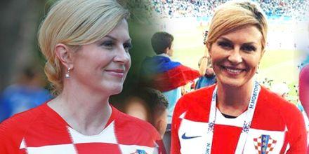 克罗地亚女总统在世界杯真火了,她的爱女也被媒体曝光跟着火了
