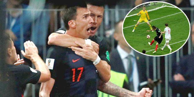 曼朱绝杀 ?克罗地亚2-1英格兰 决赛战法国