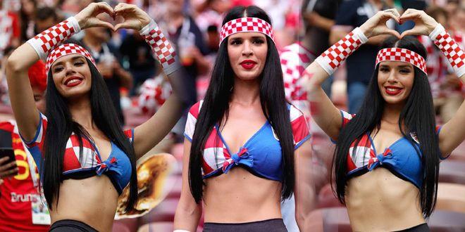克罗地亚美女球迷国色天资爆红网络