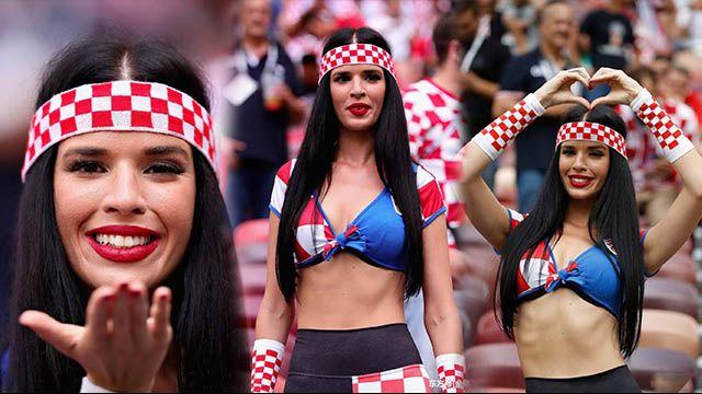 克罗地亚美女球迷国色天姿 今夏必火
