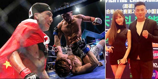 格斗王热恋举牌女郎 打得日本拳王上担架