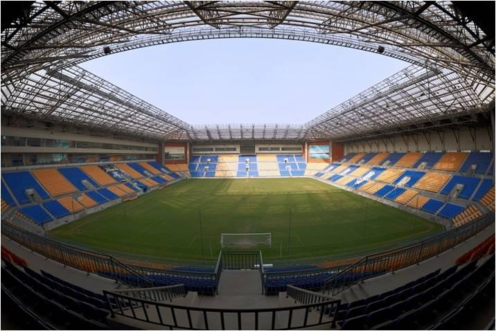 团泊足球场  第十三届全运会足球比赛拟安排在天津团泊足球场举行.