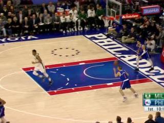 04月09日NBA常规赛 76人vs雄鹿 精彩镜头