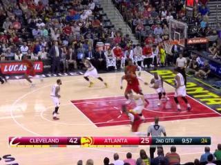 04月10日NBA常规赛 老鹰vs骑士 镜头