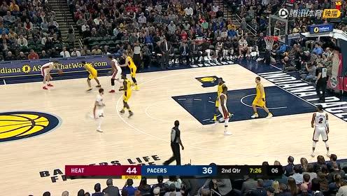 01月11日NBA常规赛 步行者vs热火 精彩镜头