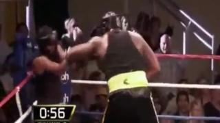 奥胖与中量级职业拳王拳击赛 真刀真枪打了5回合