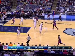 04月10日NBA常规赛 灰熊vs活塞 精彩镜头