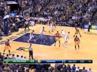 04月07日NBA常规赛 步行者vs雄鹿 精彩镜头