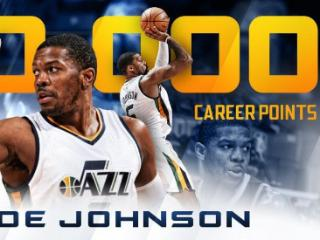 里程碑!乔-约翰逊生涯总得分达到20000