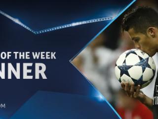 官方:C罗当选本周欧冠最佳球员