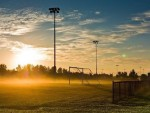 夕阳下的足球场