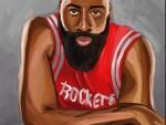 NBA球星水彩画