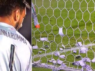 """球迷打横幅并投掷""""钞票""""嘲讽多纳鲁马"""