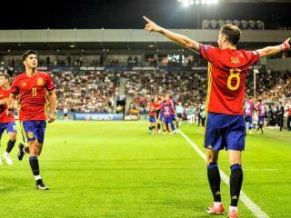 欧青赛-萨乌尔帽子戏法 西班牙3-1十人意大利晋级决赛