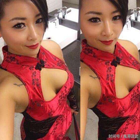 WWE的第一个中国女人,重庆女娃穿红色旗袍比赛