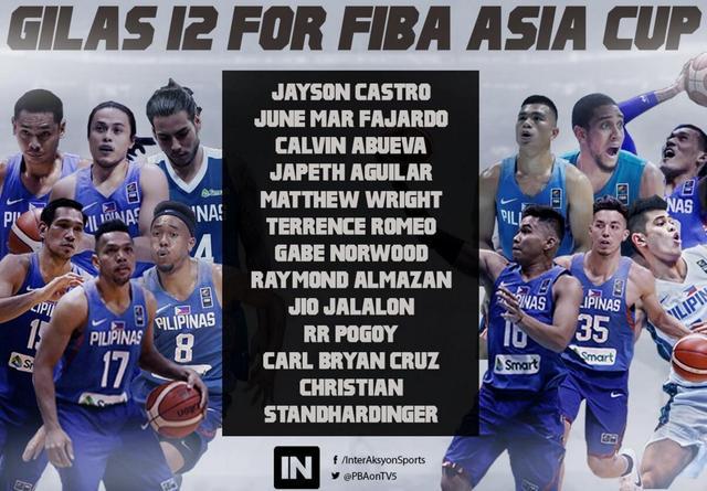 菲律宾男篮公布亚洲杯12人大名单:新疆外援布拉切缺席