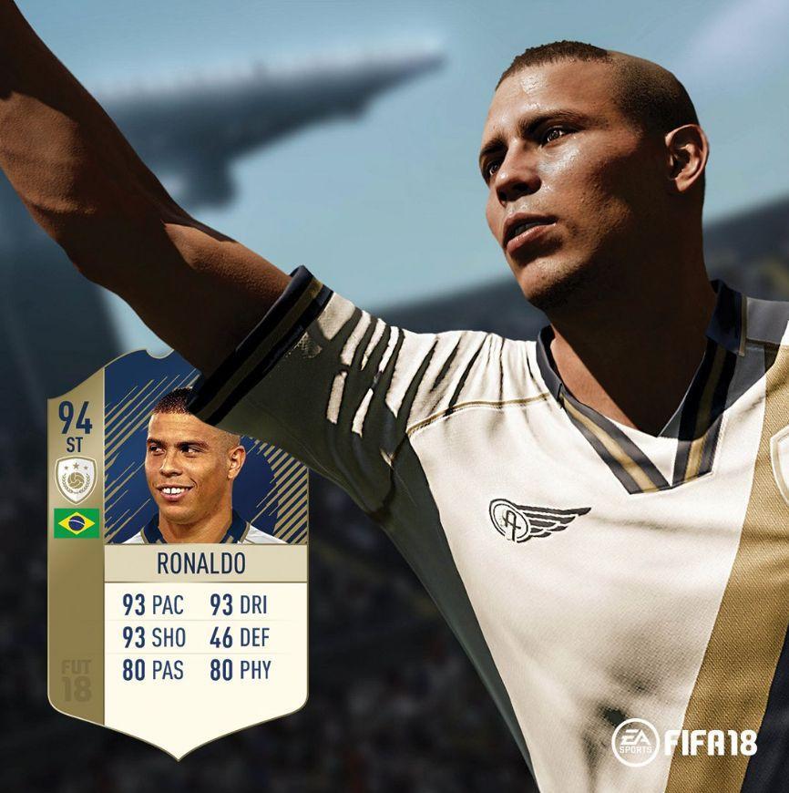 FIFA18传奇球星能力数值:大罗94老马95_足球