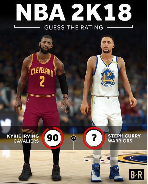 欧文的2K能力值是90 那么库里呢?_篮球_东方