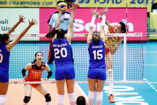 两连胜!女排大冠军杯中国3-2巴西 朱婷33分