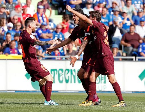 西甲-巴萨2-1逆转4连胜 梅西助攻暴力鸟绝杀