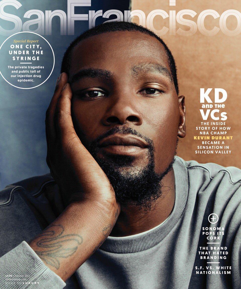 杜兰特成为旧金山杂志的封面人物_篮球_东方
