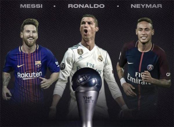 FIFA世界足球先生候选出炉:梅西C罗内马尔 新