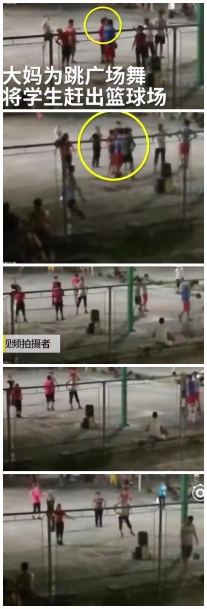 9月26日讯 近日,海南师范大学篮球场上,广场舞大妈为了方便自己跳舞,不让学生们打篮球,并把他们赶出篮球场。 点击观看相关视频》》:占领大学?广场舞大妈竟把学生赶出学校球场 据拍摄此视频人士透露:这里是海南师范大学,这些大妈就在球场上赶走那些正在打球的学生。她们在篮底下要求学生不要投,不给那学生投。