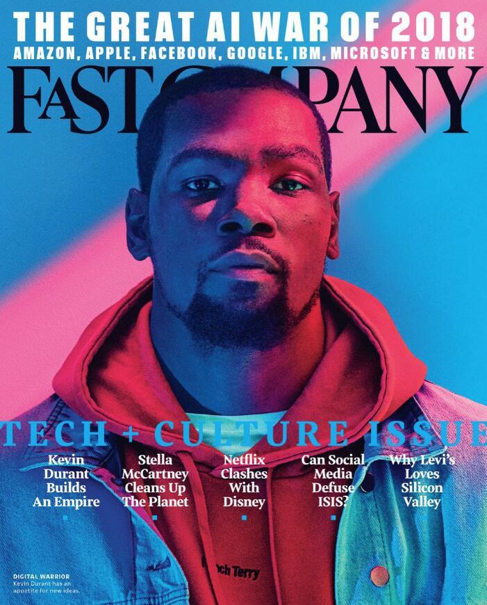 杜兰特登上《fast company》杂志封面