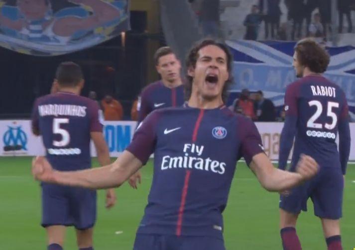 法甲-卡瓦尼补时救主内马尔染红 巴黎2-2客平马