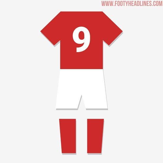 英格兰2018世界杯客场球衣谍照,红色为主