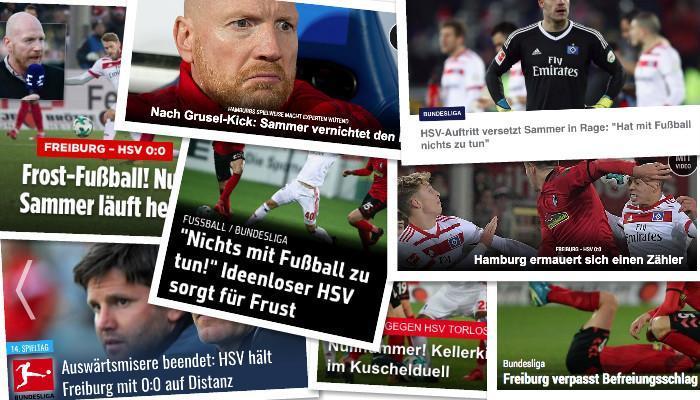 德甲今日头版:萨默尔痛批汉堡 德国盼进世界杯决赛