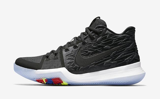 别致鞋面+幻彩鞋底元素Nike Kyrie 3 Black Ice