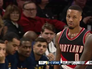 04月09日NBA常规赛 开拓者vs爵士 精彩镜头
