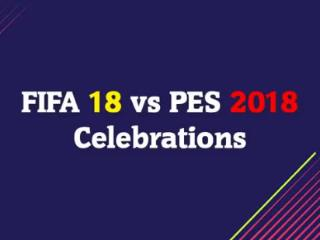 C罗威武霸气的庆祝动作,PES2018和FIFA18谁