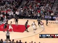 04月07日NBA常规赛 开拓者vs森林狼 精彩镜头