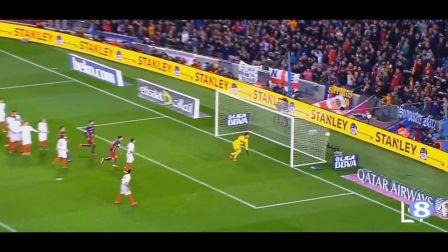 7分钟展示梅西完美弧线球技术
