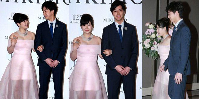 福原爱和老公江宏杰在台北出席珠宝展活动,这一对也太养眼了吧
