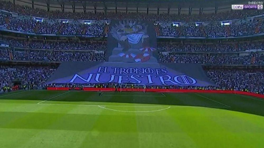皇马球迷亮标语:王位是我们的