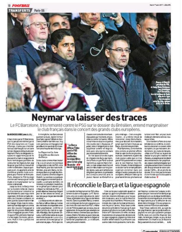 开撕!内马尔遭巴萨球迷打骂 巴黎面临欧洲豪门联手孤立