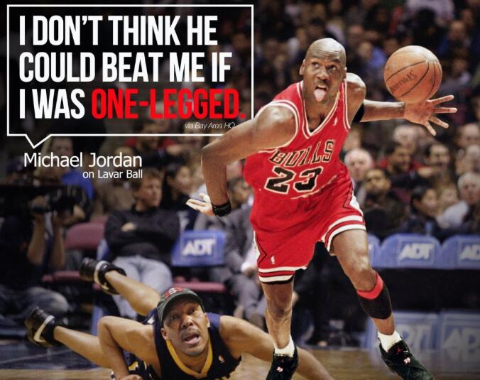 美媒:老鲍尔大学共得56分 乔丹8场NBA比赛至少56+