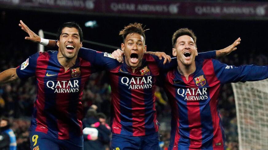 MSN3年数据:364球、171助、9个冠军
