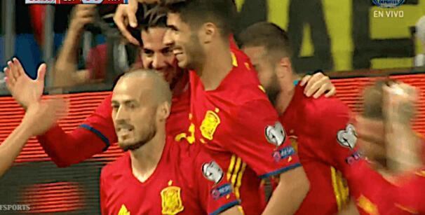 世预赛-伊斯科两球比利亚回归 西班牙3-0完胜意大利