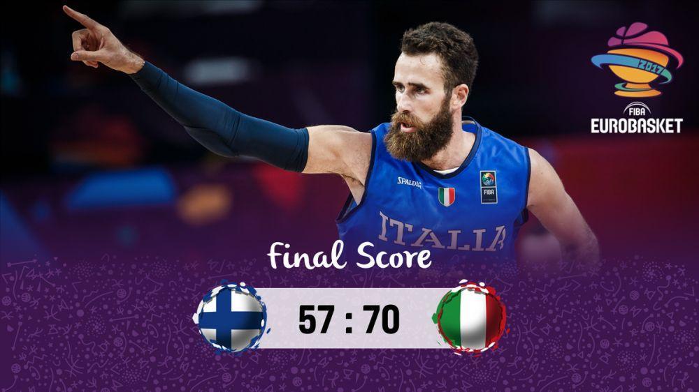 欧锦赛-贝里内利22分达托梅15分 意大利击败芬兰杀入8强