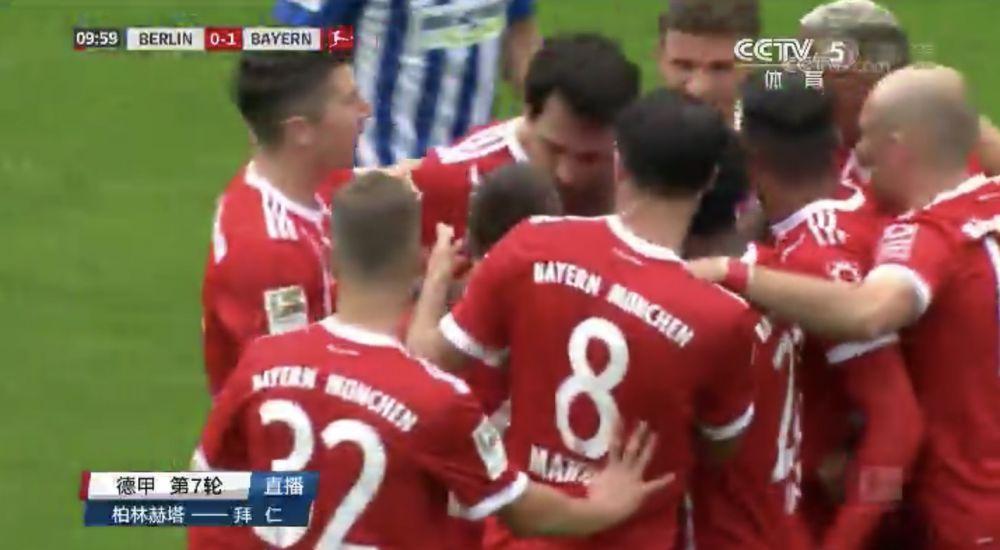 半场-博阿滕助攻胡梅尔斯破门 拜仁1-0赫塔