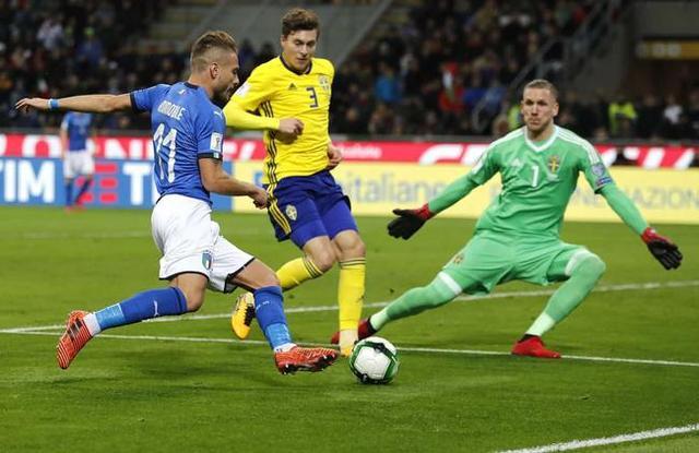附加赛-意大利总比分0-1不敌瑞典 59年来首次无缘世界杯!布冯含泪退役
