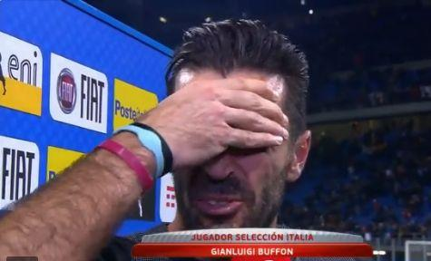 早报:意大利无缘2018世界杯,布冯泪别国家队