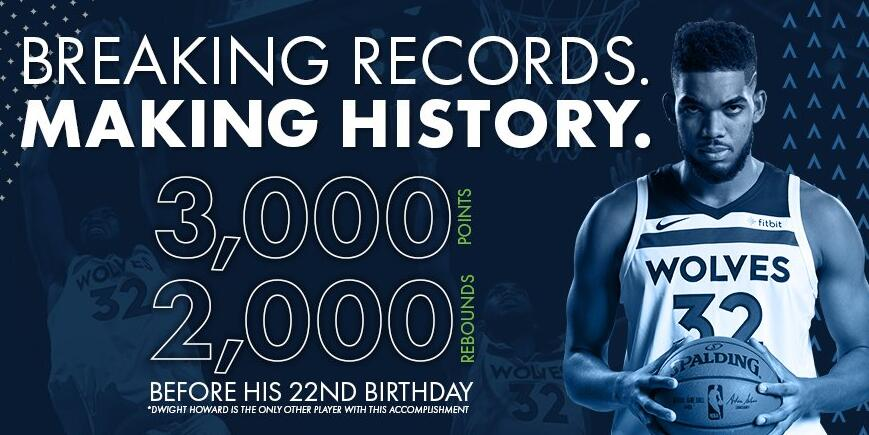 唐斯22岁生日前达成3000+2000 比肩霍华德