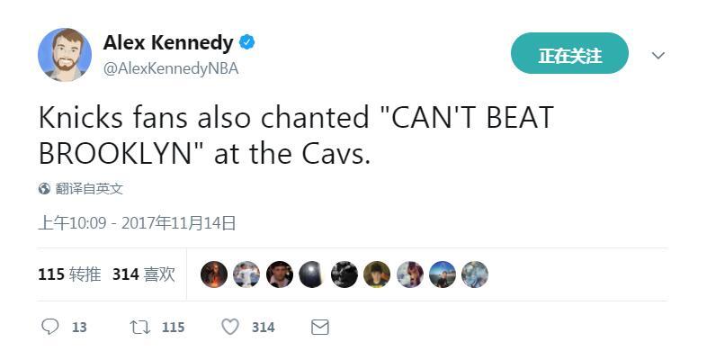 """难受了!尼克斯球迷曾朝骑士高喊""""凯里欧文""""和""""输给篮网"""""""
