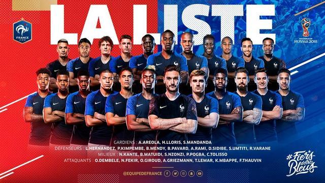 法国、葡萄牙同时公布世界杯23人名单:法国多位名将无缘 中超再添一人