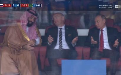 看嗨了!普京数次霸气摊手 微笑致歉沙特领导人